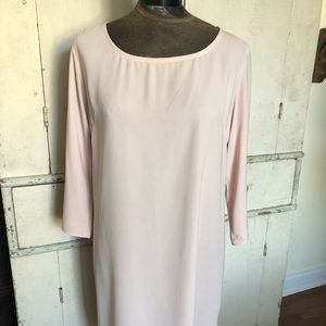 Simple Champagne Shift Dress